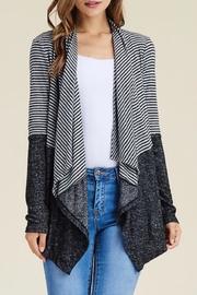LuLu's Boutique Striped Open Cardigan - Front full body
