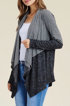 LuLu's Boutique Striped Open Cardigan - Product List Image
