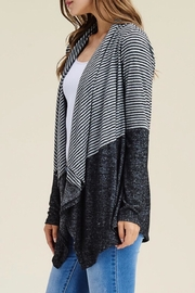 LuLu's Boutique Striped Open Cardigan - Side cropped