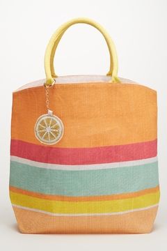 Shoptiques Product: Striped Orange Tote