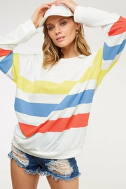 Fantastic Fawn Striped Over-Sized Sweatshirt - Product Mini Image
