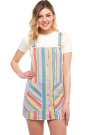 Signature 8 Striped Overall Dress - Product Mini Image