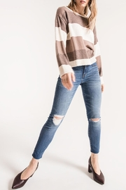 rag poets Striped Oversized Sweater - Product Mini Image