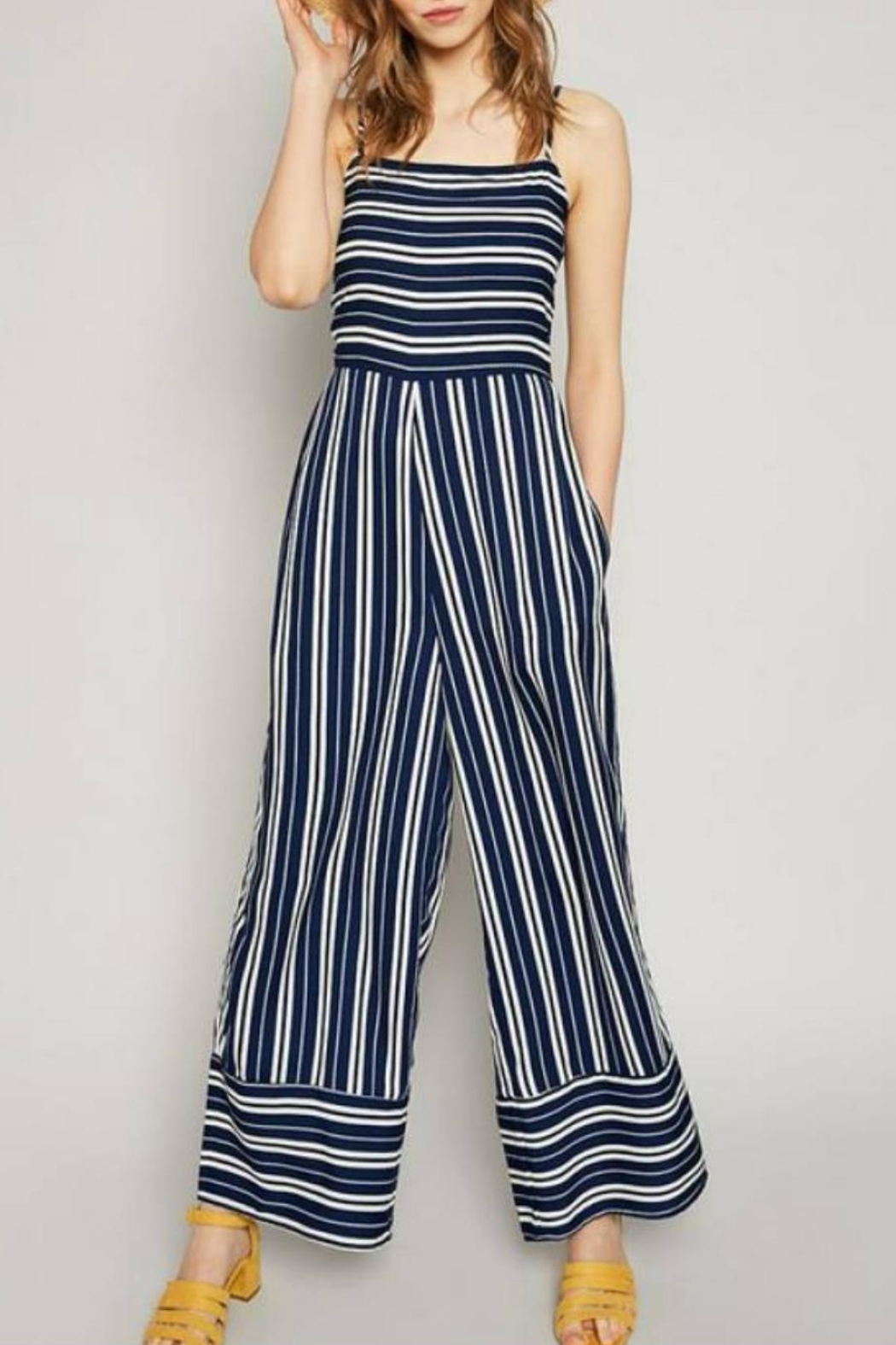 Hayden Los Angeles Striped Palazzo Jumpsuit - Main Image
