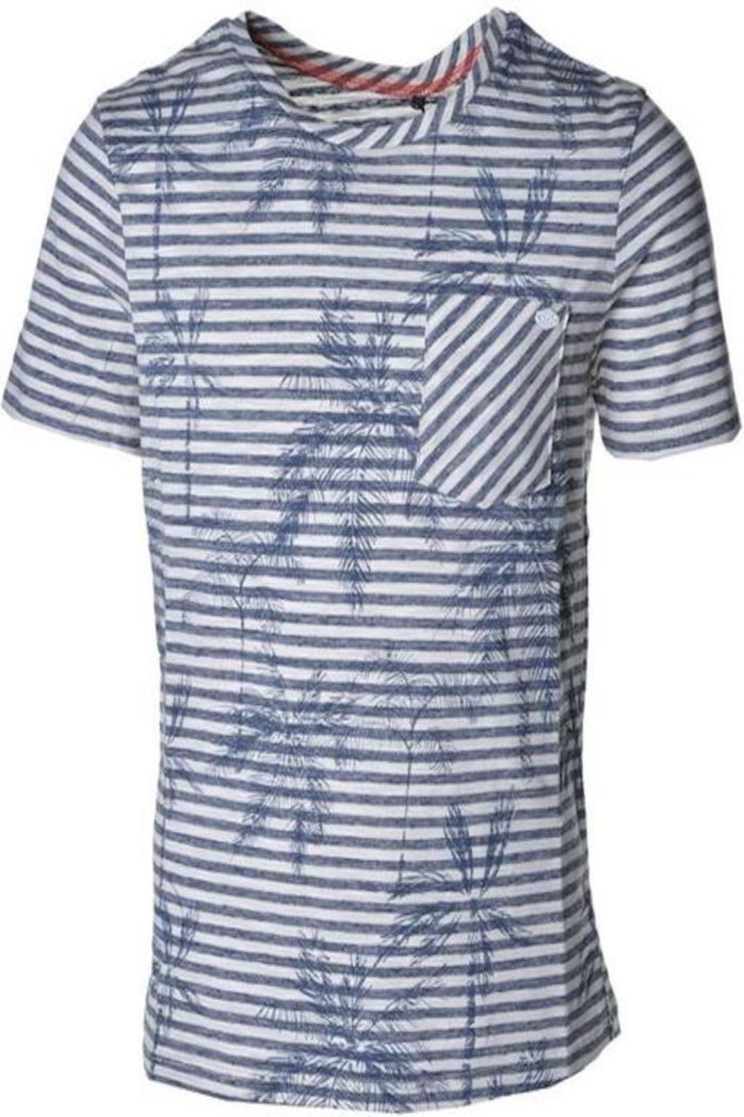 IKKS Striped Palm Shirt - Front Cropped Image