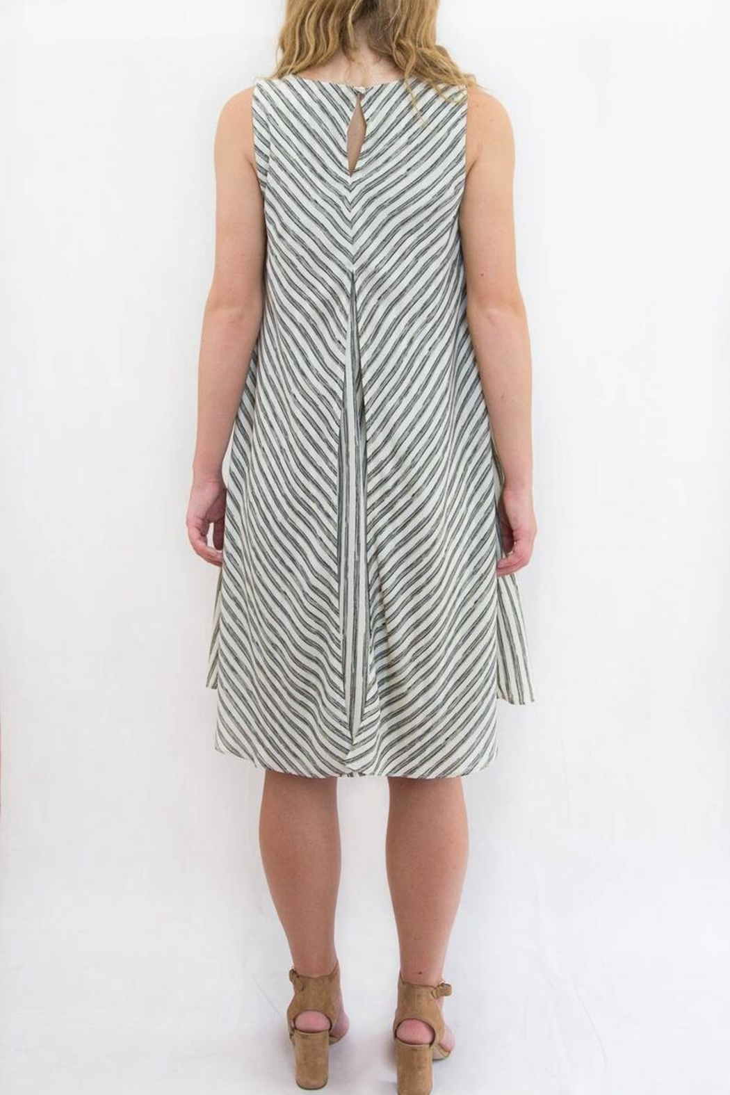 Mystree Striped Pannel Dress - Front Full Image
