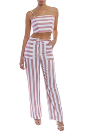 luxxel Striped Pant Set - Product Mini Image