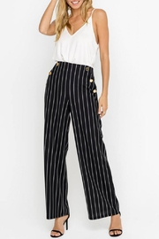 Lush Striped Pants, Black - Product Mini Image