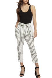 Dex Striped Paper Bag Pants - Product Mini Image