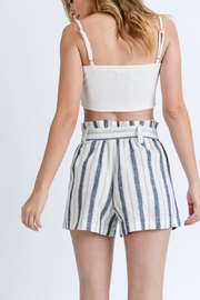 Love Tree Striped Paper Bag Shorts - Other