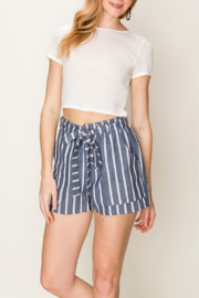 HYFVE Striped Paperbag Waist Short - Product Mini Image