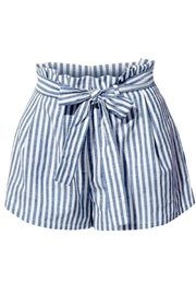 2Sable Striped Paperbag-Waisted Shorts - Product Mini Image