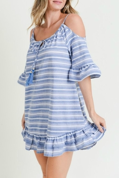 Doe & Rae Striped Peplum Sundress - Product List Image