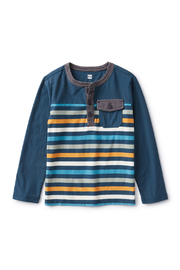 Tea Collection  Striped Pocket Henley - Product Mini Image