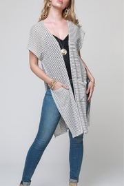 Urbanista Striped Pocket Kimono - Product Mini Image