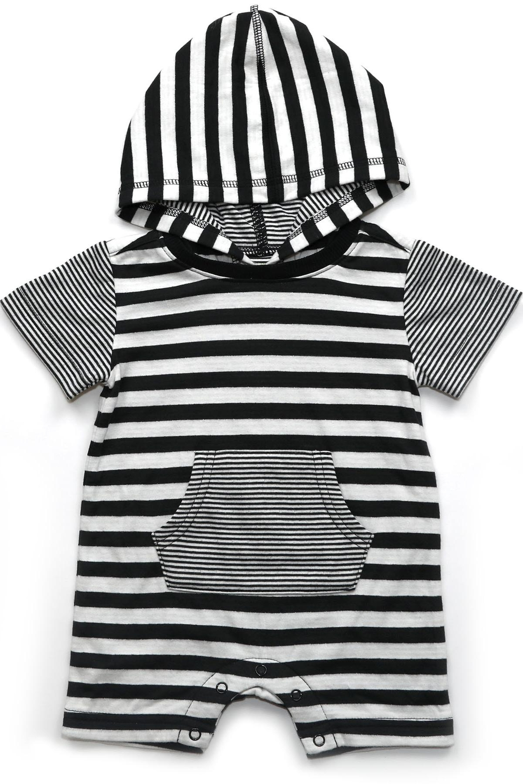 Kapital K Striped Pocket Romper - Main Image