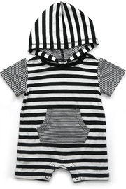 Kapital K Striped Pocket Romper - Front cropped