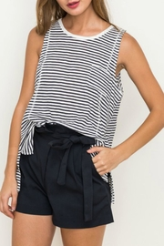 Hem & Thread Striped Pocket Tank - Product Mini Image