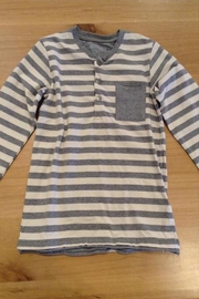 Belly Button Striped Pocket Tee - Front cropped