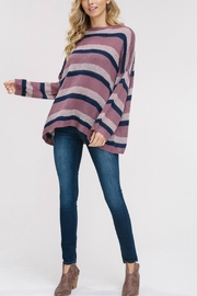 Listicle Striped Pullover Sweater - Product Mini Image