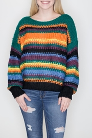 She + Sky Striped Pullover Sweater - Product Mini Image
