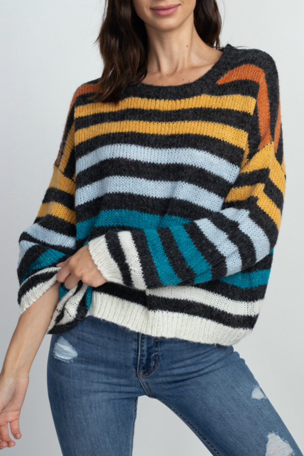 Dreamers Striped pullover sweater - Main Image