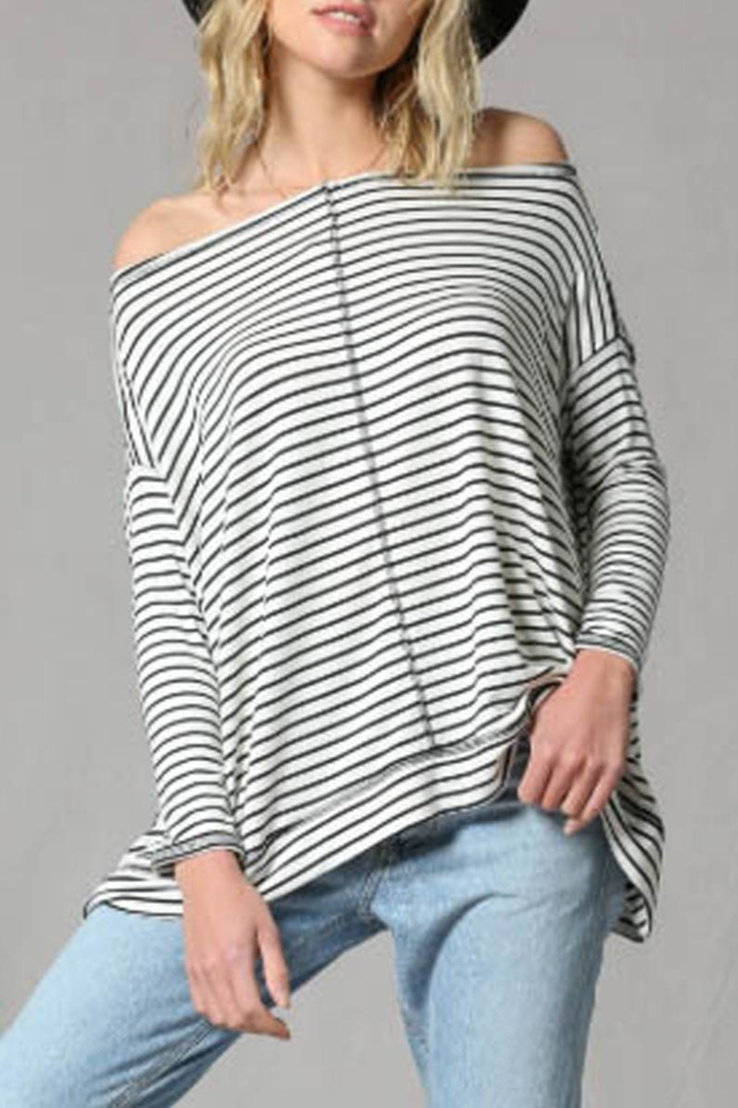 By Together Striped Pullover Top - Main Image