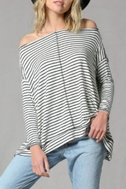 By Together Striped Pullover Top - Product Mini Image