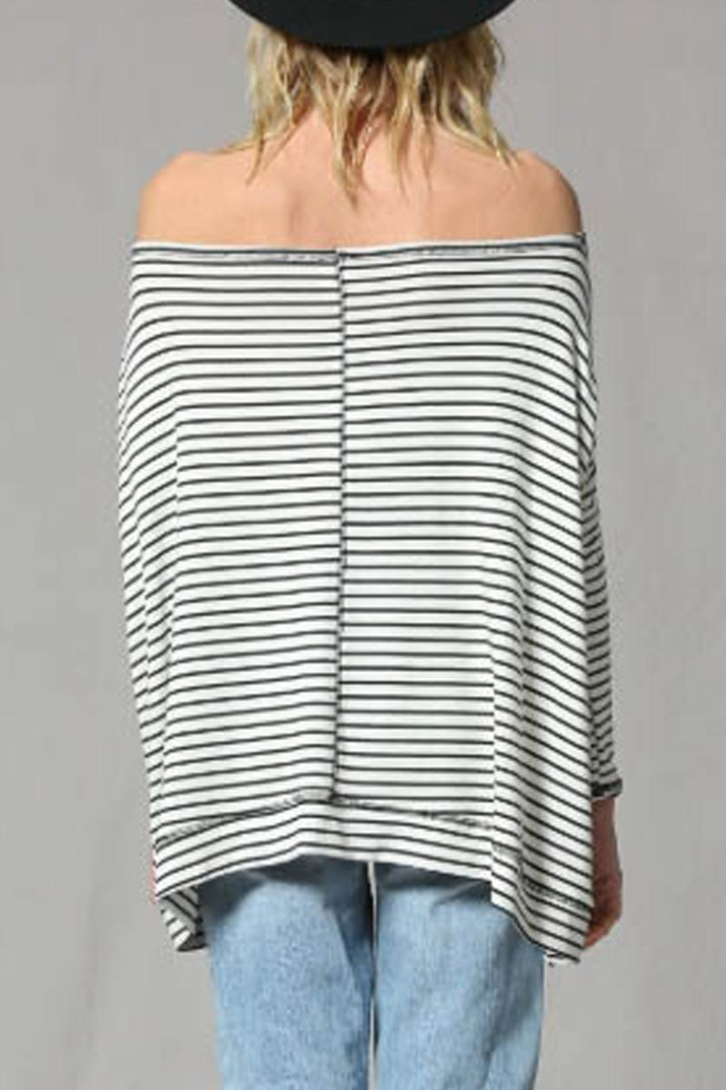 By Together Striped Pullover Top - Side Cropped Image