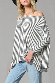 By Together Striped Pullover Top - Front full body