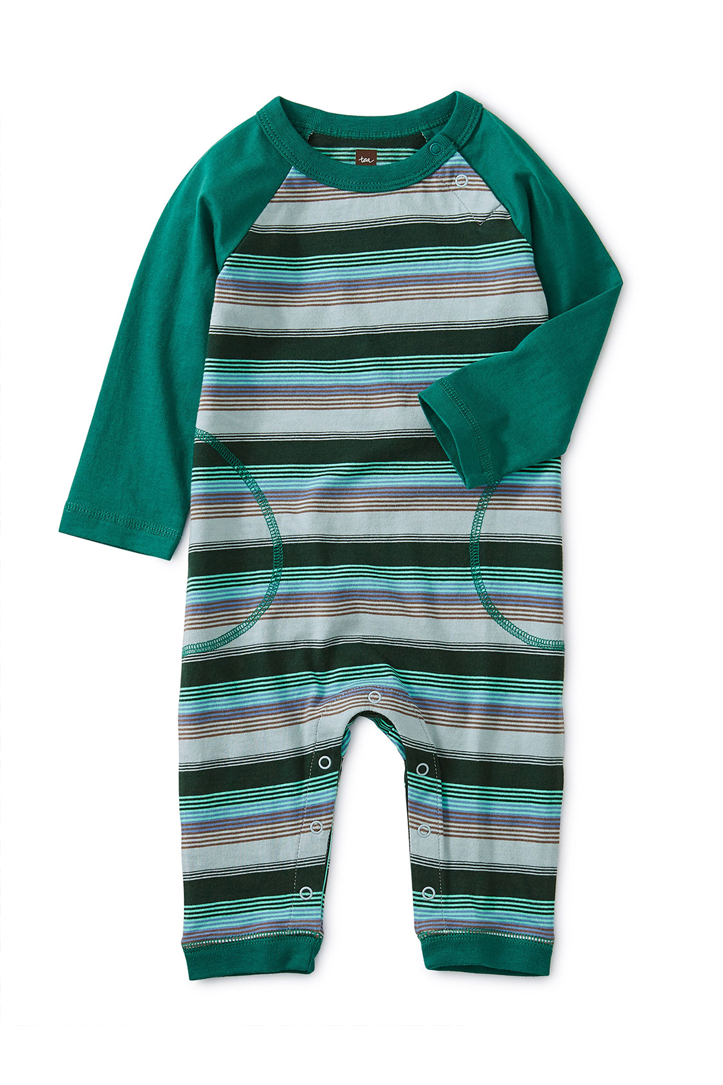 Tea Collection Striped Raglan Romper - Main Image
