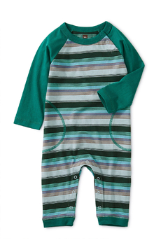 Shoptiques Product: Striped Raglan Romper