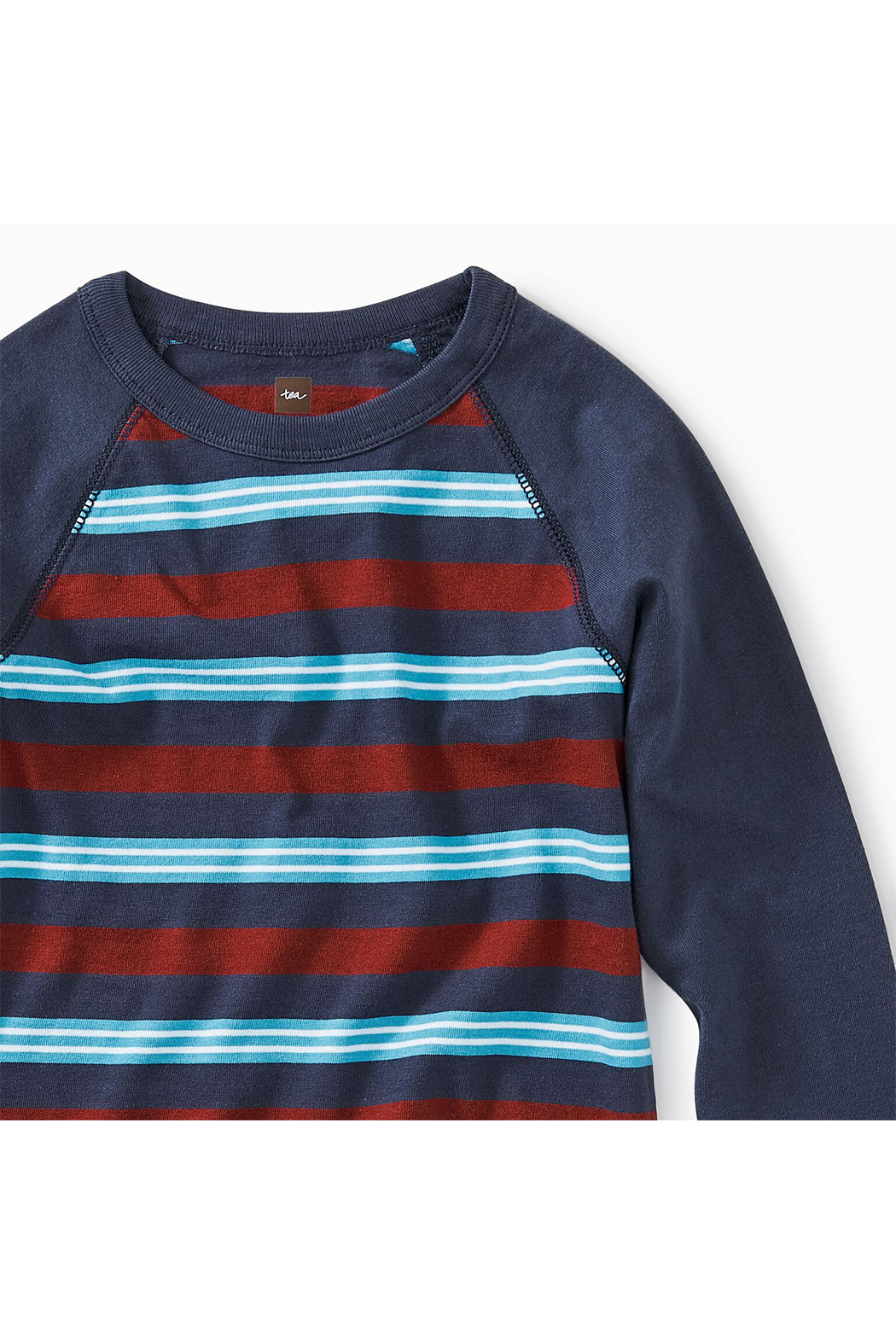 Tea Collection Striped Raglan Tee - Front Full Image