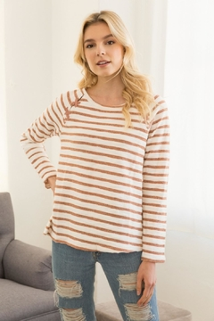 Shoptiques Product: Striped Red Sweater