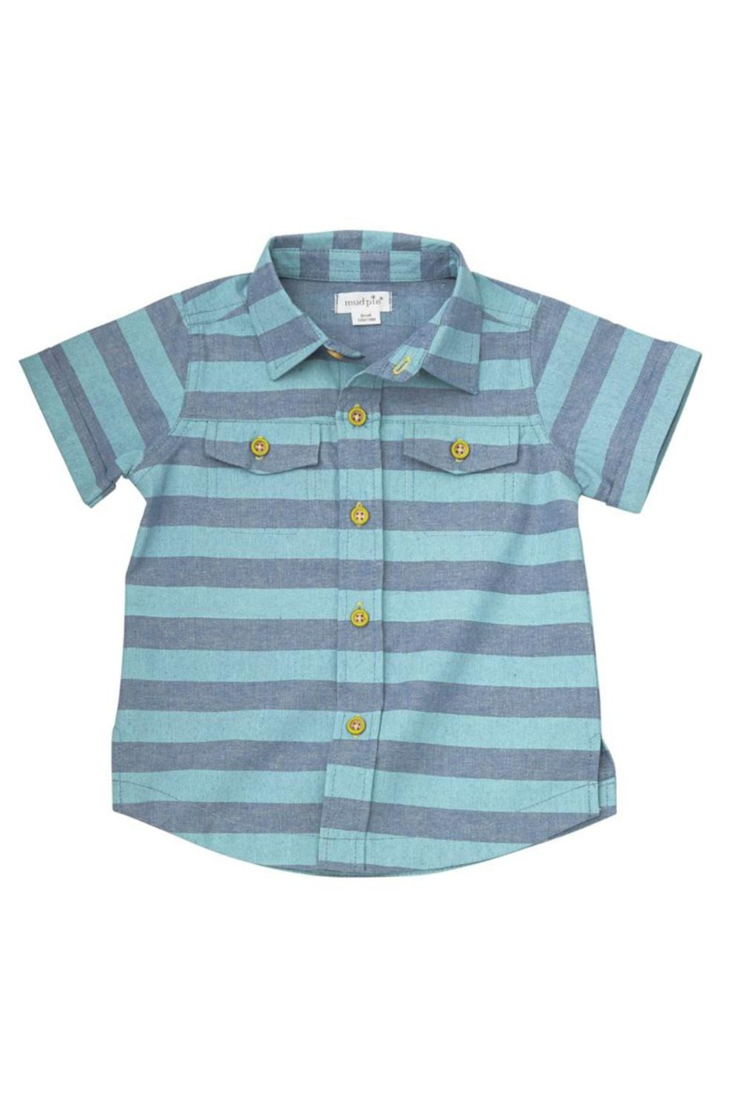Mud Pie Striped Resort Shirt - Front Cropped Image