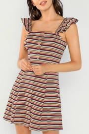 hummingbird Striped Rib-Knit Dress - Product Mini Image