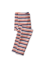 Tea Collection Striped Ribbed Baby Leggings - Front cropped