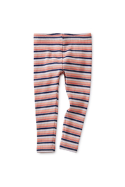 Tea Collection Striped Ribbed Baby Leggings - Front full body