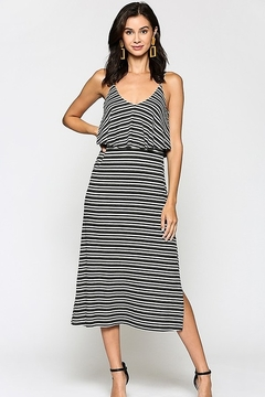 Staccato Striped Ribbed Midi Dress - Product List Image