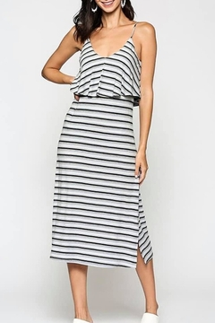 Gigio/BluHeaven Striped Ribbed Midi Dress - Alternate List Image