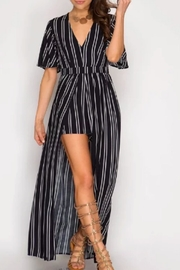 She + Sky Striped Romper - Front cropped
