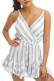luxxel Striped Romper - Front cropped