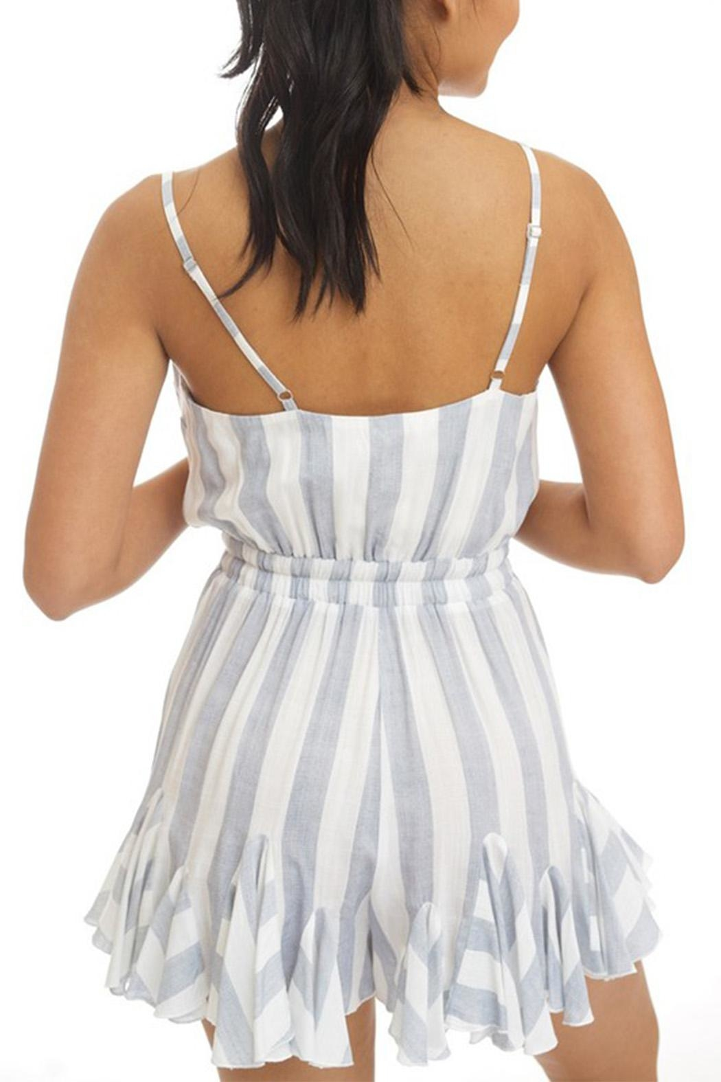 luxxel Striped Romper - Front Full Image