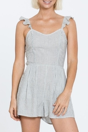 En Creme Striped-Romper With Ruffle-Sleeve - Product Mini Image