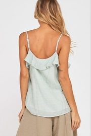 Wishlist Striped Ruffle Cami Top - Other