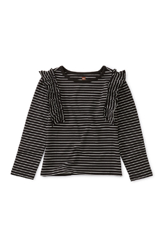 Shoptiques Product: Striped Ruffle Flutter Top