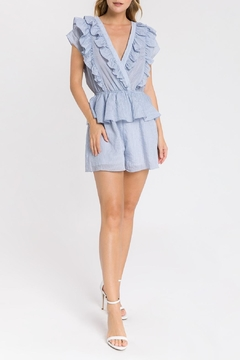 Endless Rose Striped Ruffle Romper - Product List Image
