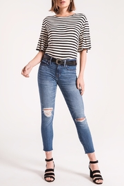 z supply Striped Ruffle Tee - Front cropped