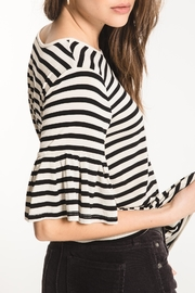 z supply Striped Ruffle Tee - Front full body