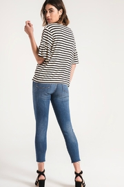 z supply Striped Ruffle Tee - Side cropped